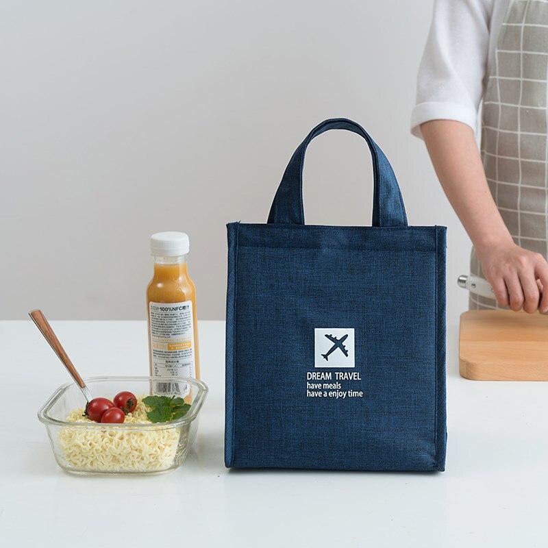 Модная Портативная Термосумка для ланча, сумка для еды, свежая, Bento, офисный напиток для пикника, органайзер для холодной изоляции, аксессуары для еды
