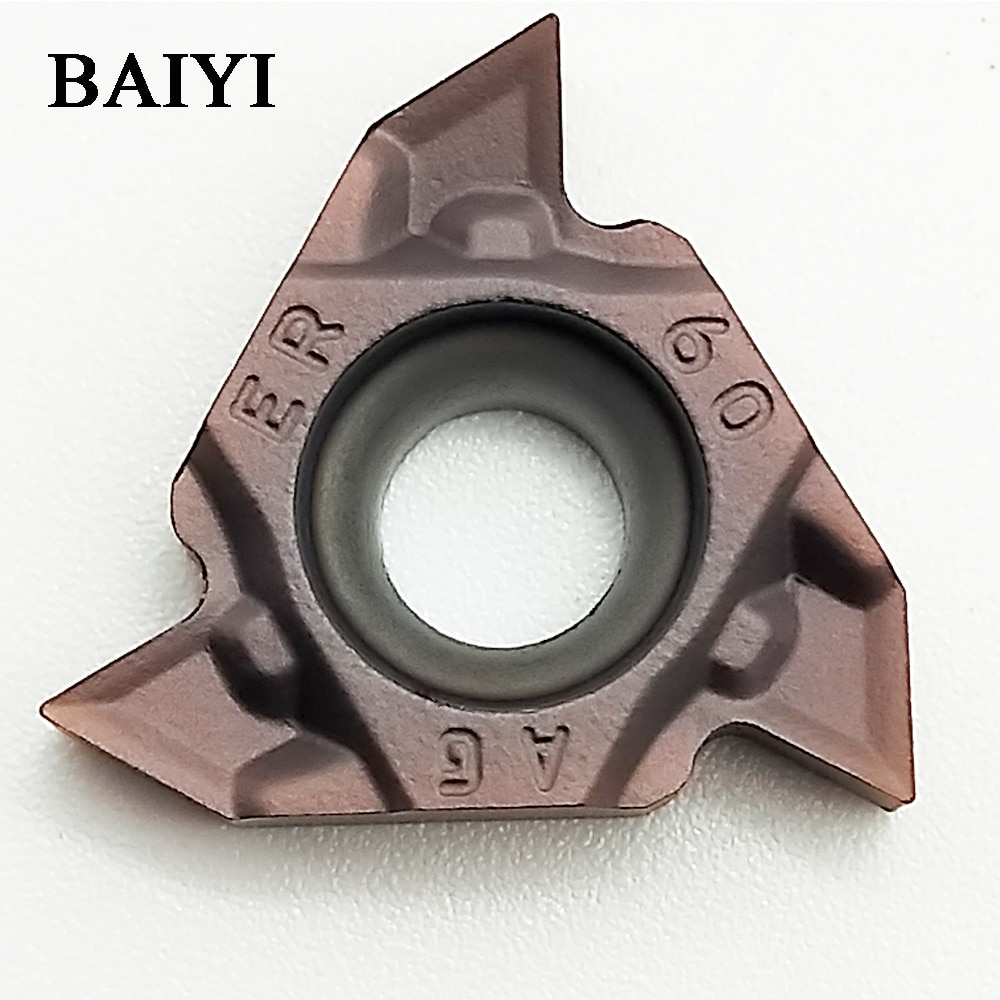 Inserto de carburo MMT16ER AG60-S VP15TF, inserto de rosca CNC 16ER AG60 de 50 piezas para soportes de rosca