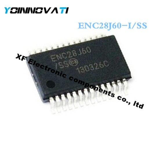 50pcs/lot ENC28J60-I/SS ENC28J60 28J60 ETHERNET CTRLR W/SPI 28SSOP IC Best quality
