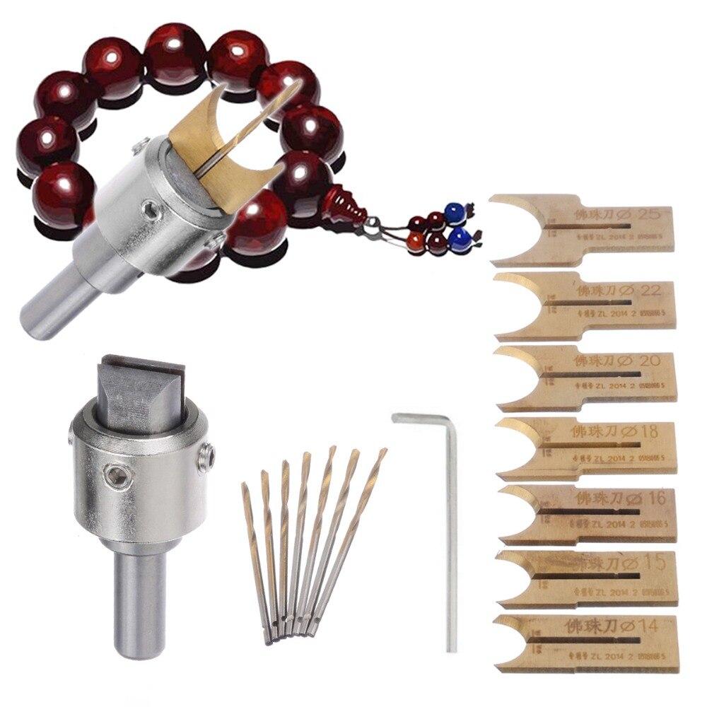 16 stücke Hartmetall Ball Klinge Holz Fräser Form Werkzeug Perlen Router Bit Set 14-25mm