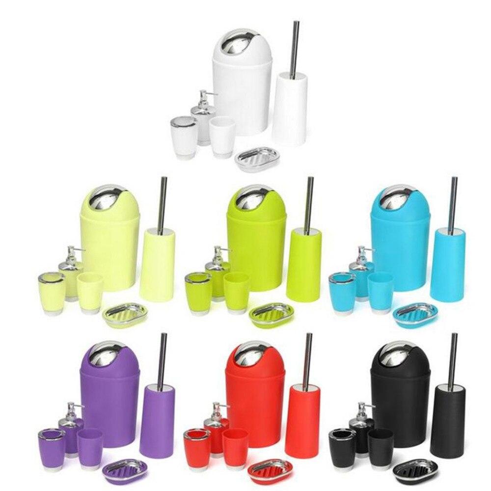 6 шт./компл. аксессуары для ванной комнаты ящик диспенсер для мыла стакан держатель для зубной щетки набор для мытья ванны Аксессуары для хра...
