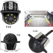 YYZSDYJQ  Waterproof Car Front cam Backup Camera Parking Reversing Back Car Rear View Camera HD Image Sensor CCD Camera 8 LED IR