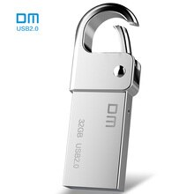 Gratis verzending DM PD027 8G 16G 32 GB USB Flash Drive Metalen Pen Drive Key Ring Waterdichte USB stick Pendrive Flash Drive Metalen