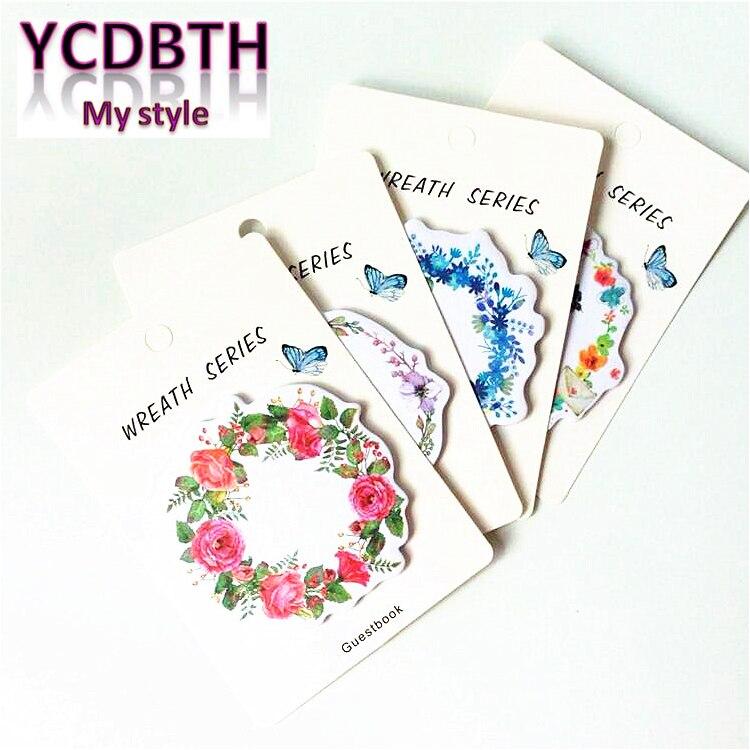1 pacote/lote 2017 nova moda doce flor conveniente escrever notas pegajosas almofada de memorando mensagem papelaria presente engraçado