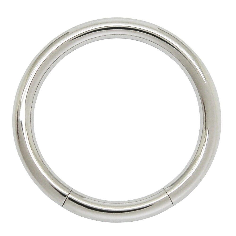 Piercing de cuerpo de acero inoxidable de 2mm de espesor, anillo de segmento de joyería para pezón, oreja, nariz, piercing, anillo