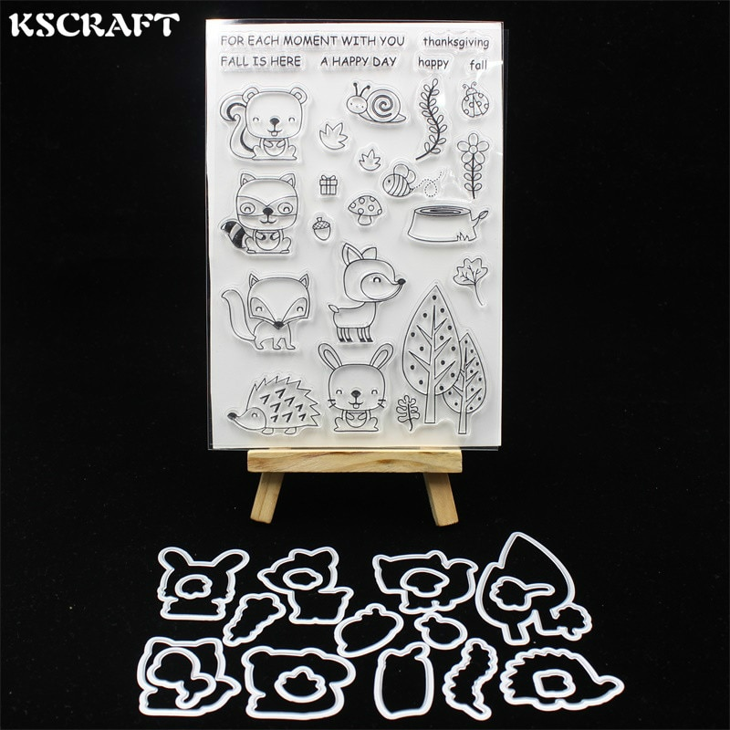 KSCRAFT Fall Friends Metal Cutting Dies Stamp for DIY Scrapbooking/photo album Decorative Embossing DIY Paper Cards 210