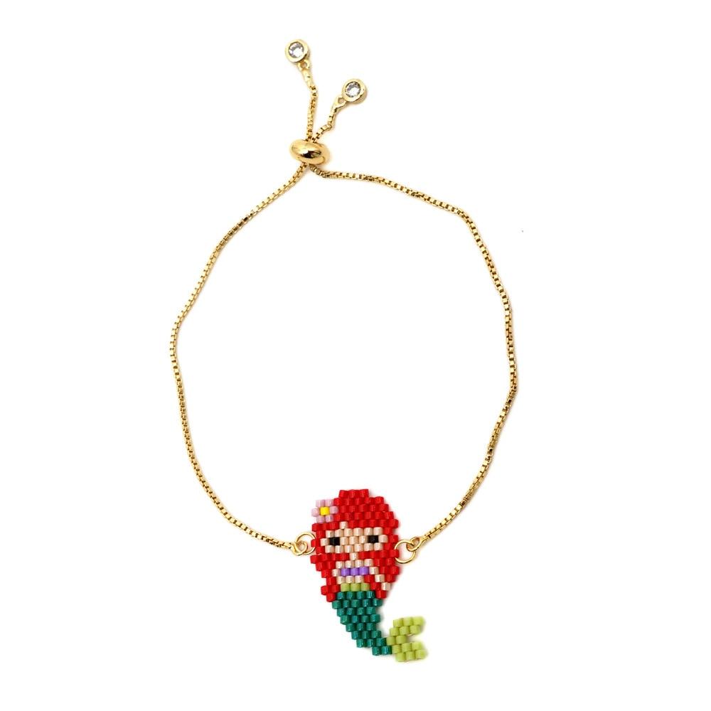 Frau zubehör Neue Luxus meerjungfrau armbänder slipknot miyuki kette armband sommer damen schmuck herrin geschenk großhandel