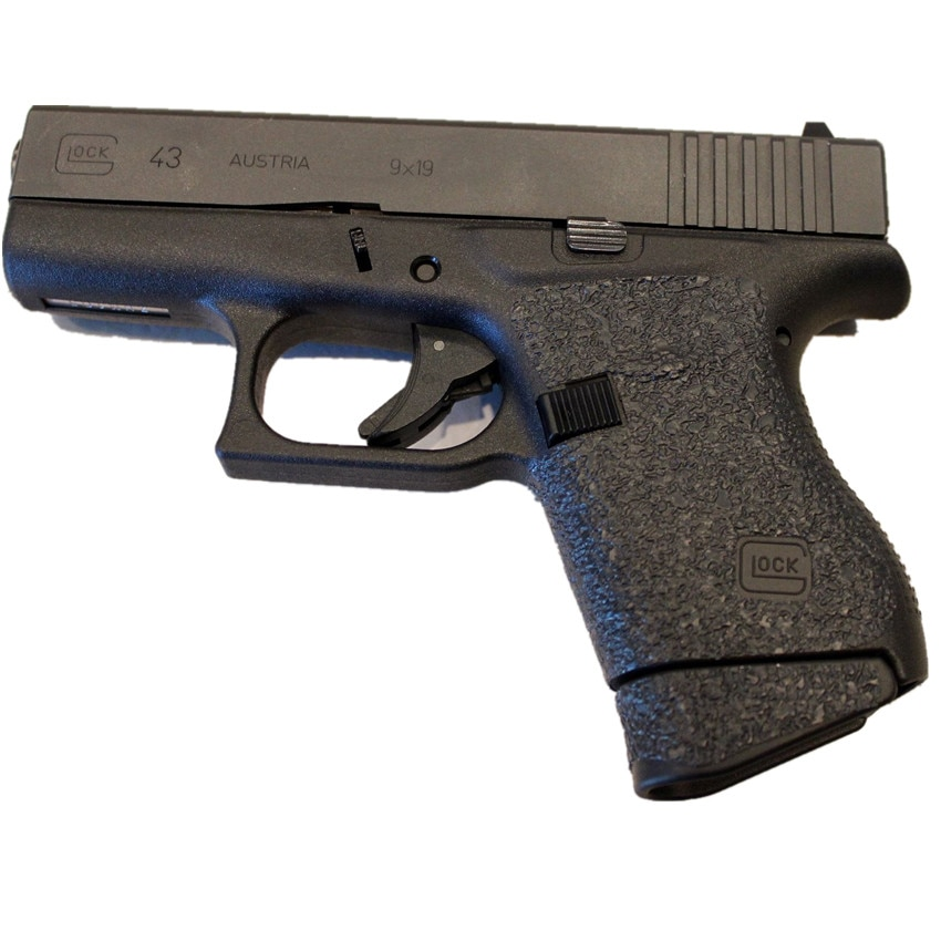 Antiderrapante textura de borracha aderência envoltório fita luva personalizado para glock 43 coldre apto para 9mm pistola revista acessórios