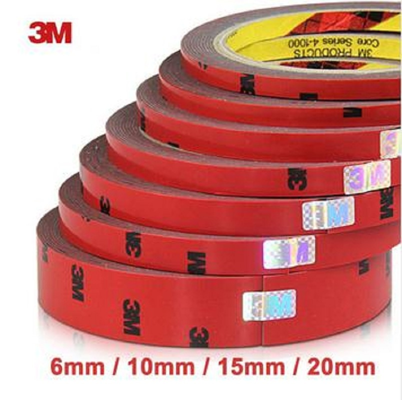 3M Double Faced Acrylic Foam Adhesive Double Sided Tape 6/10/15/20/30/40mm Auto Special Sponge Puff glue car decals car-styling
