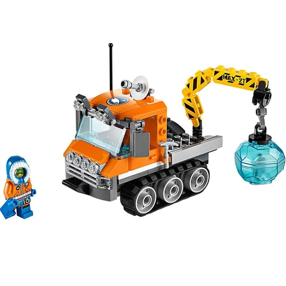 119PCS Arctic Ice Crawle City Arctic 60033 Bricks Building Blocks Model toys for Childrens Kids Gift