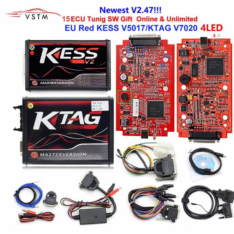 KESS étiquette K V7.020 KESS V2 V5.017 SW V2.25 v2.47 2019 maître ECU   Outil de réglage de puces, 2.47 en ligne