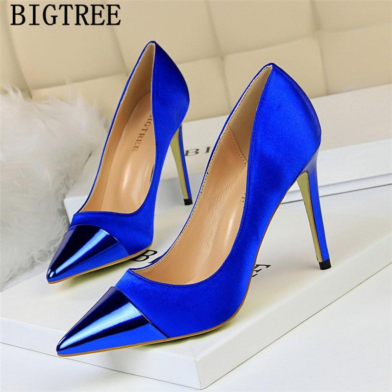 Zapatos de vestir con tacón de diseñador para Mujer, calzado Sexy de boda, Bigtree, 2021