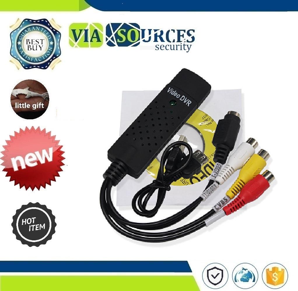 VHS Аудио захвата адаптер карты ТВ видео DVR USB 2 0 Easycap Захвата 4 канала DVD|DVR-карты| |