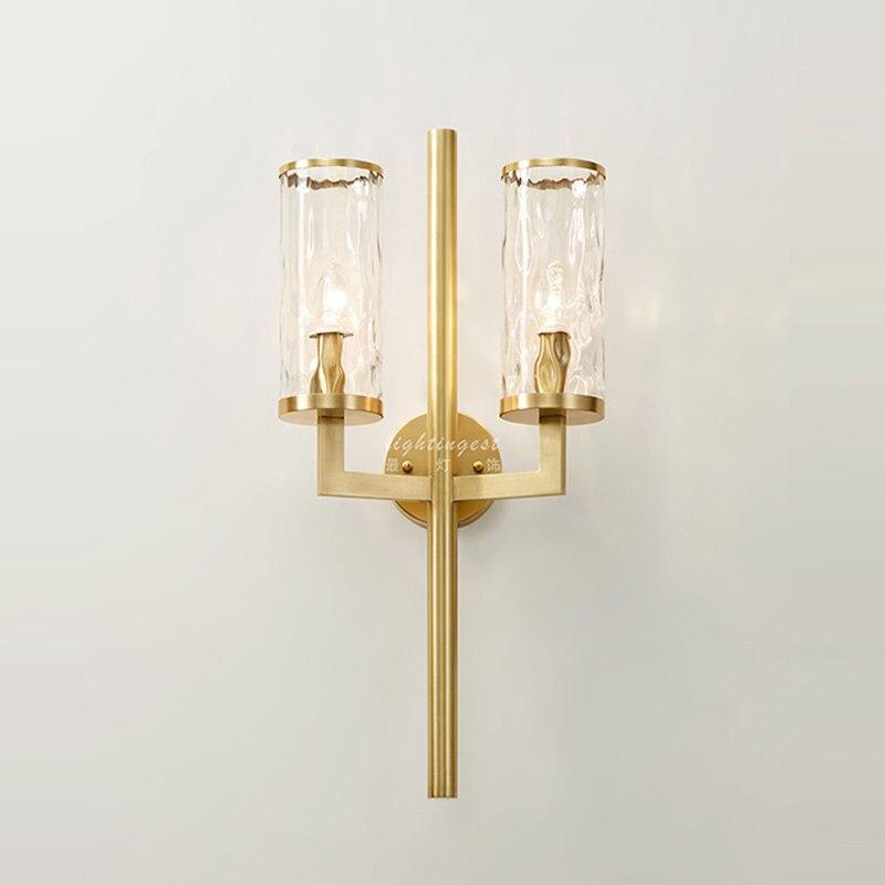 Führte indoor wand lampe treppen licht Boutique designer modernen Amerikanischen bronze kunst vorlage hotel eingang Galerie kunst glas lampe