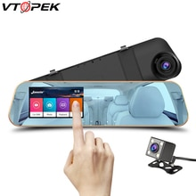 Full Hd 1080P Touch Screen Auto Dvr Camera Auto 4.3 Inch Achteruitkijkspiegel Digitale Video Recorder Dual Lens Registratory camcorder