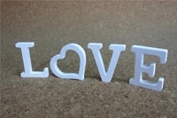 creative free standing wood wooden 10cm white letters alphabet word for birthday party home wedding decoration gifts