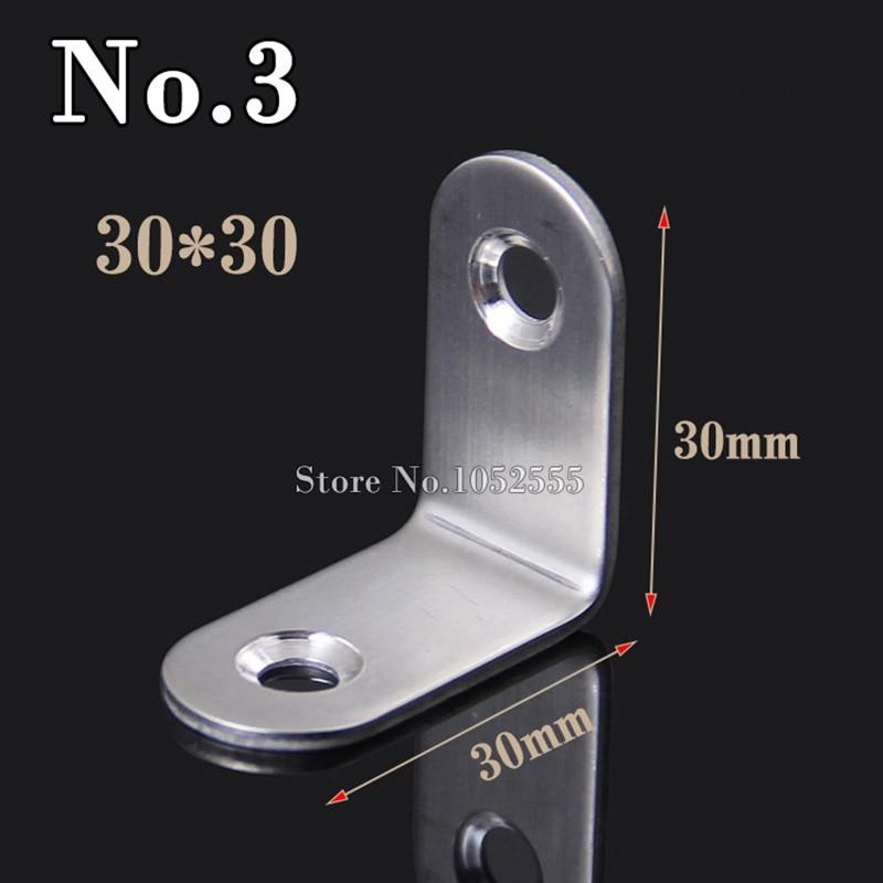 جودة 10 قطعة أثاث معدني الزاوية بين قوسين 30*30 مللي متر زاوية لوحة الفولاذ المقاوم للصدأ الزاوية بين قوسين الأثاث اتصال أجزاء K90