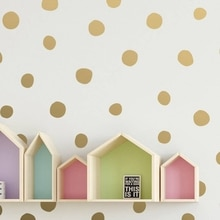 Elle çizilmiş düzensiz Polka Dot duvar çıkartmaları bebek odası dekor konfeti vinil duvar Sticker kreş duvar duvar sanatı çıkartması dekorasyon