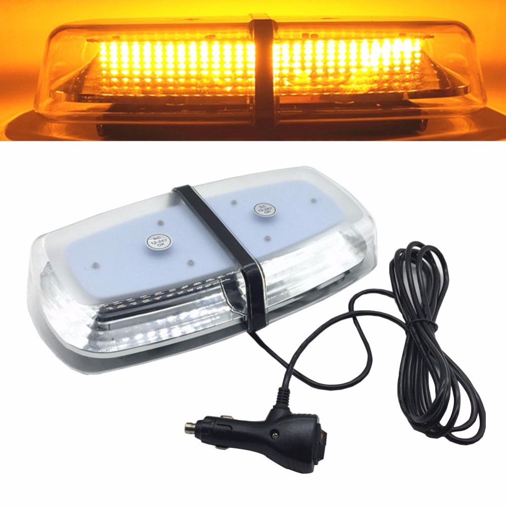 Yellow DC12V~24V Magnetic Mounted Car truck Strobe Flashing Emergency Light Beacon ambulance Police Warning lights lamp