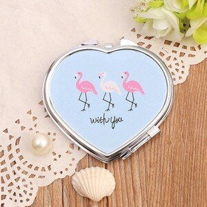Small Lady With Makeup Makeup Mirror Mini Portable Folding Small Mirror Double Mirror Sale