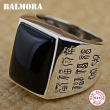 BALMORA 100% Echt 925 Sterling Silber Ringe für Männer Geschenk Thai Silber Ring Ethnische Gesegnet Schmuck Anillos UNS größe 8 -12,5