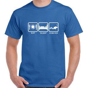 Eat Sleep Scuba Dive - Mens Funny T-Shirt Scuba Diving Diver