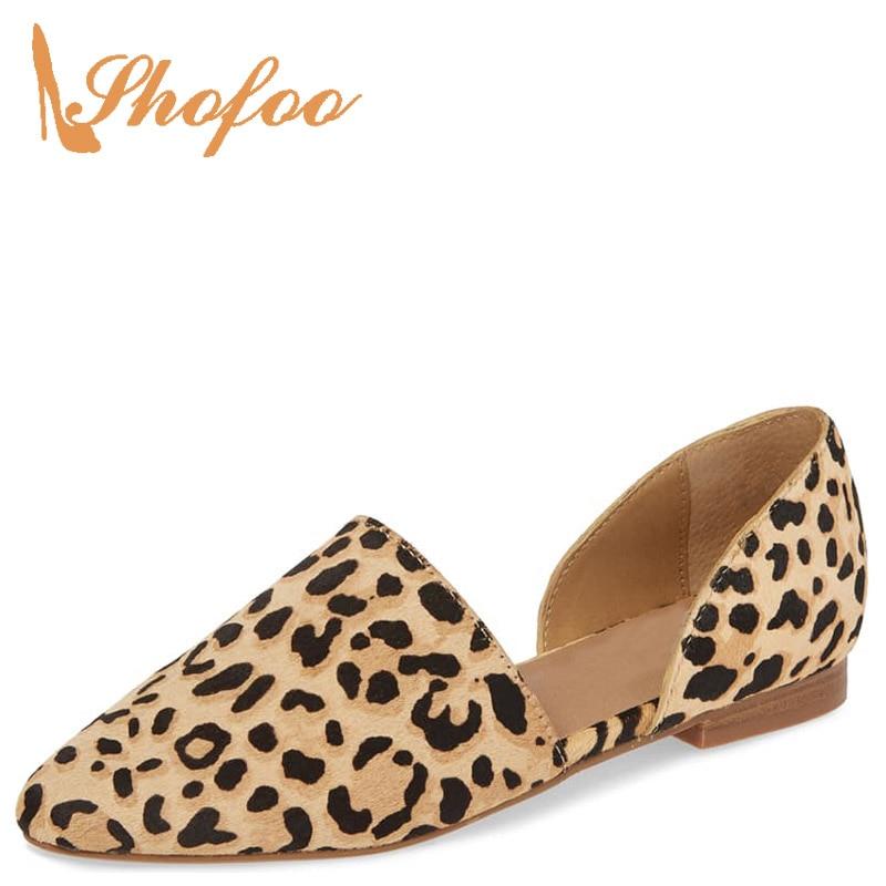 Mocasines planos con estampado de leopardo Borwn para mujer talla grande 11 12 16 para damas calzado de oficina zapatos suaves de moda madura de 2019