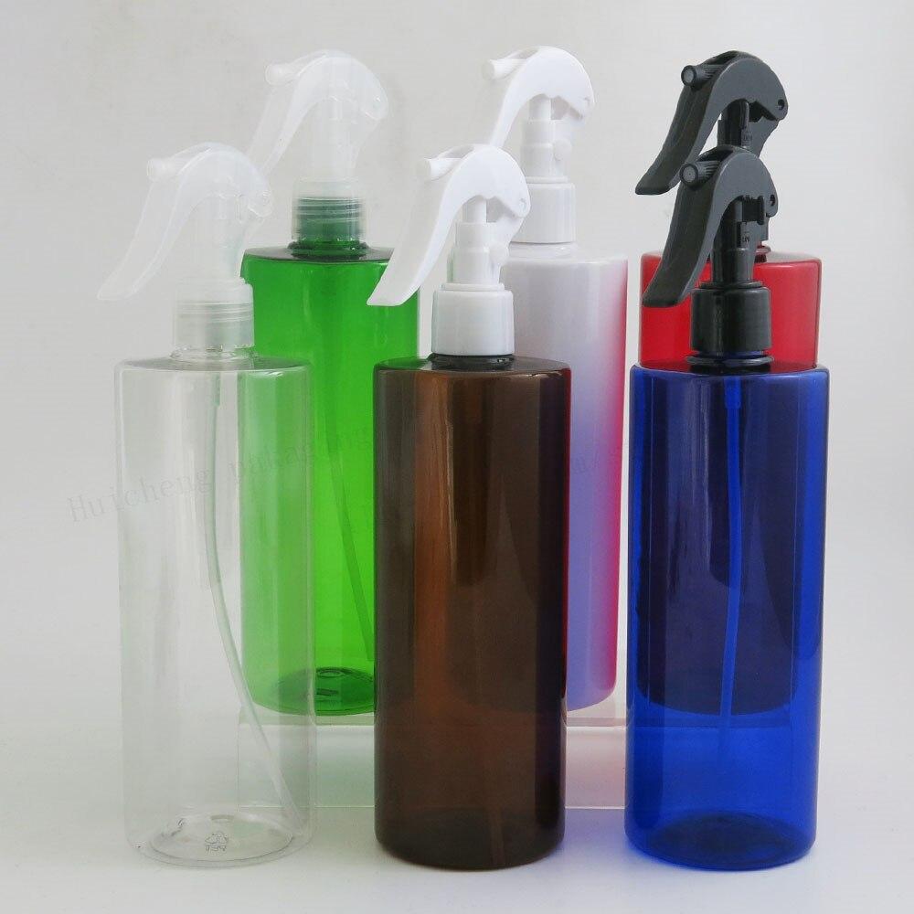 12X500 مللي فارغة كبيرة إعادة الملء العنبر الأزرق Pet البلاستيكية زجاجة مع الزناد مضخة 16.67 oz المياه الزجاجات