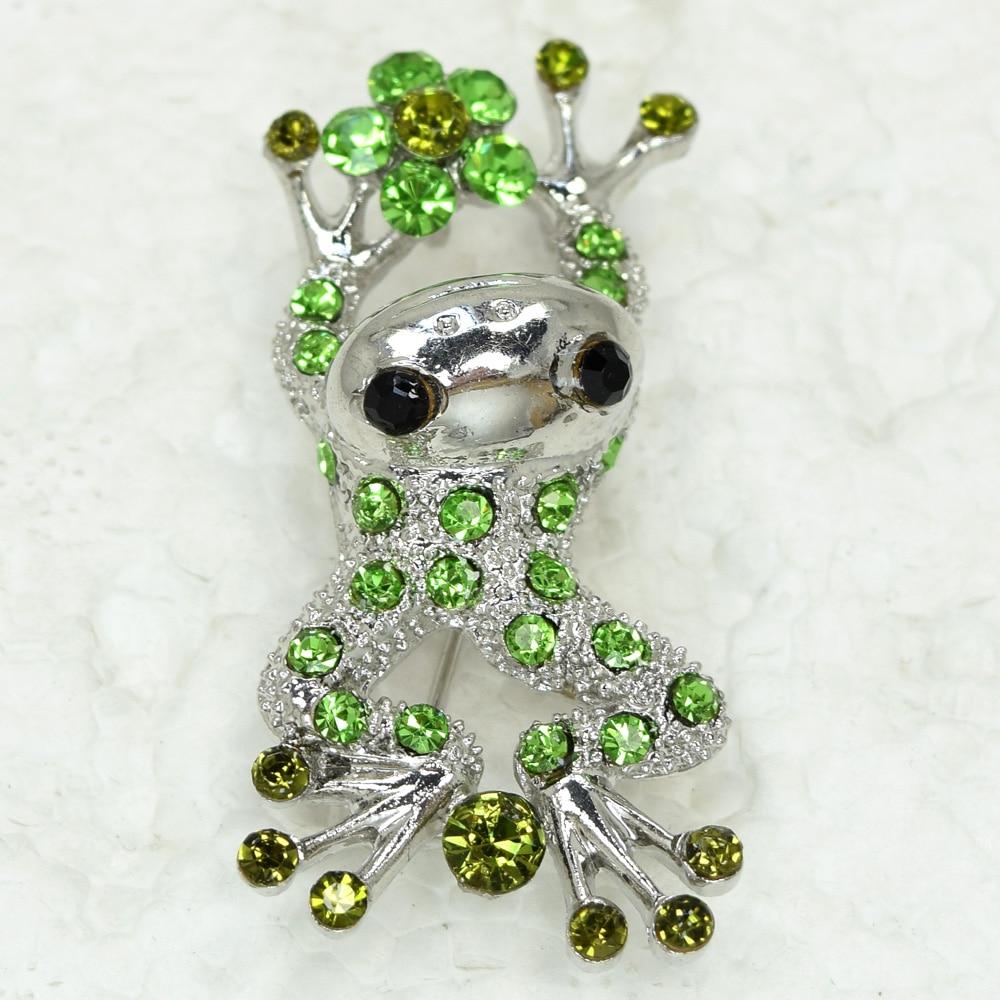 Rhinestone Frog Pin brooches Pendant C856 K