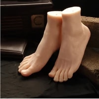 free shipping newest big style male mannequin foot silicone realistic foot model mannequin hot sale
