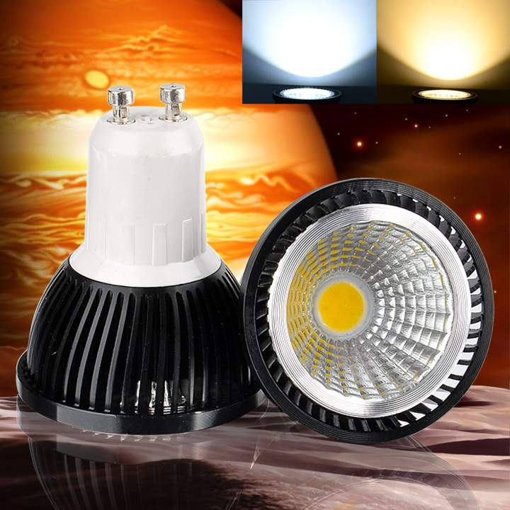 Super Bright możliwość przyciemniania GU10 COB 9W 12W 15W lampa z żarówką led AC110V 220V reflektor ciepły biały/zimny biały oświetlenie led