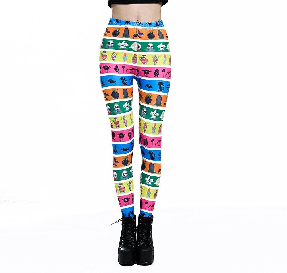 Pantalones elásticos informales con estampado Digital 3D de monstruo de Halloween Leggings lijados para mujer ropa deportiva de 6 tallas envío gratis