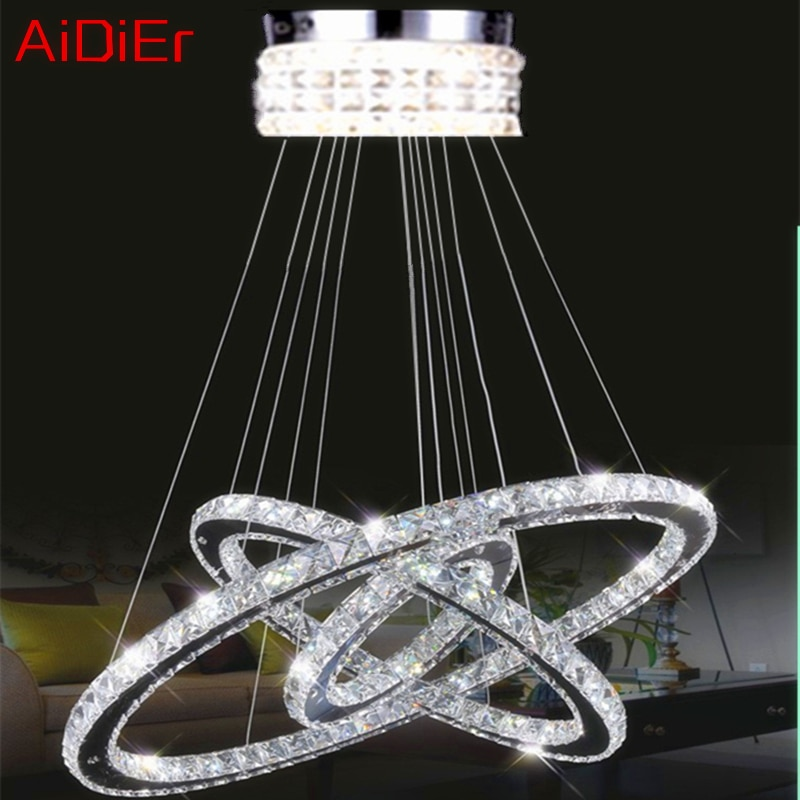 3 ring diamond ring crystal chandelier modern luxury atmosphere living room room lights LED K9 luster crystal lamp D40x30x20cm  - buy with discount