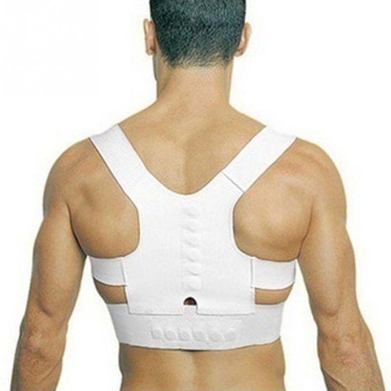 Adulto niño cinturón de soporte lumbar ajustable corsé para la espalda magnético Corrector de postura ortopédicos protector de columna vertebral