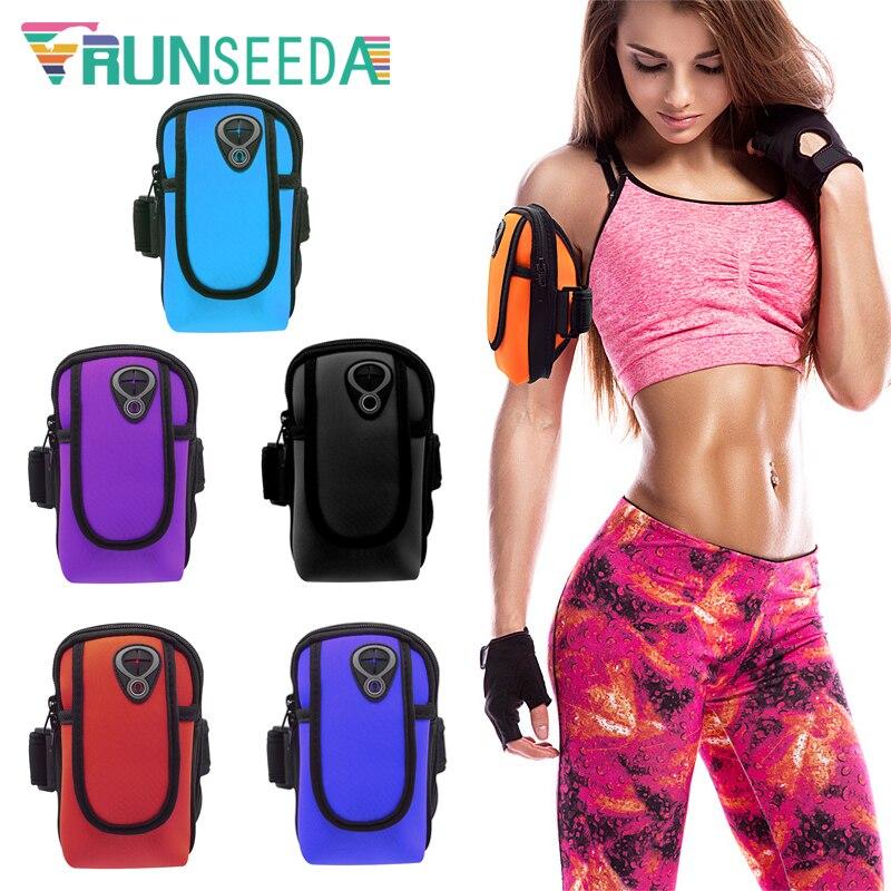Runseeda pochete para celular esportivo, bolsa para braço e ciclismo, smartfone de 6 polegadas para corrida, pesca, academia