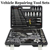 123PCS Vehicle Repairing Tools Combination Multifunctional Machinery Repairing Tools Set Screwdrivers Ratchet Spanner 102123
