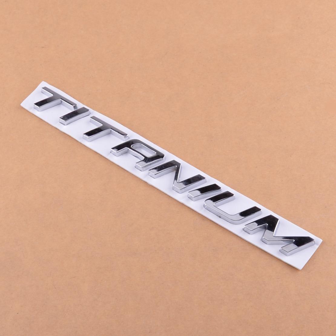 DWCX Universal coche tronco cromo insignia calcomanía emblema letras pegatina titanio apto para Ford Mondeo Kuga