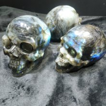 1000G Big Size Labradorite Skulls Decoration Healing Crystal Skulls
