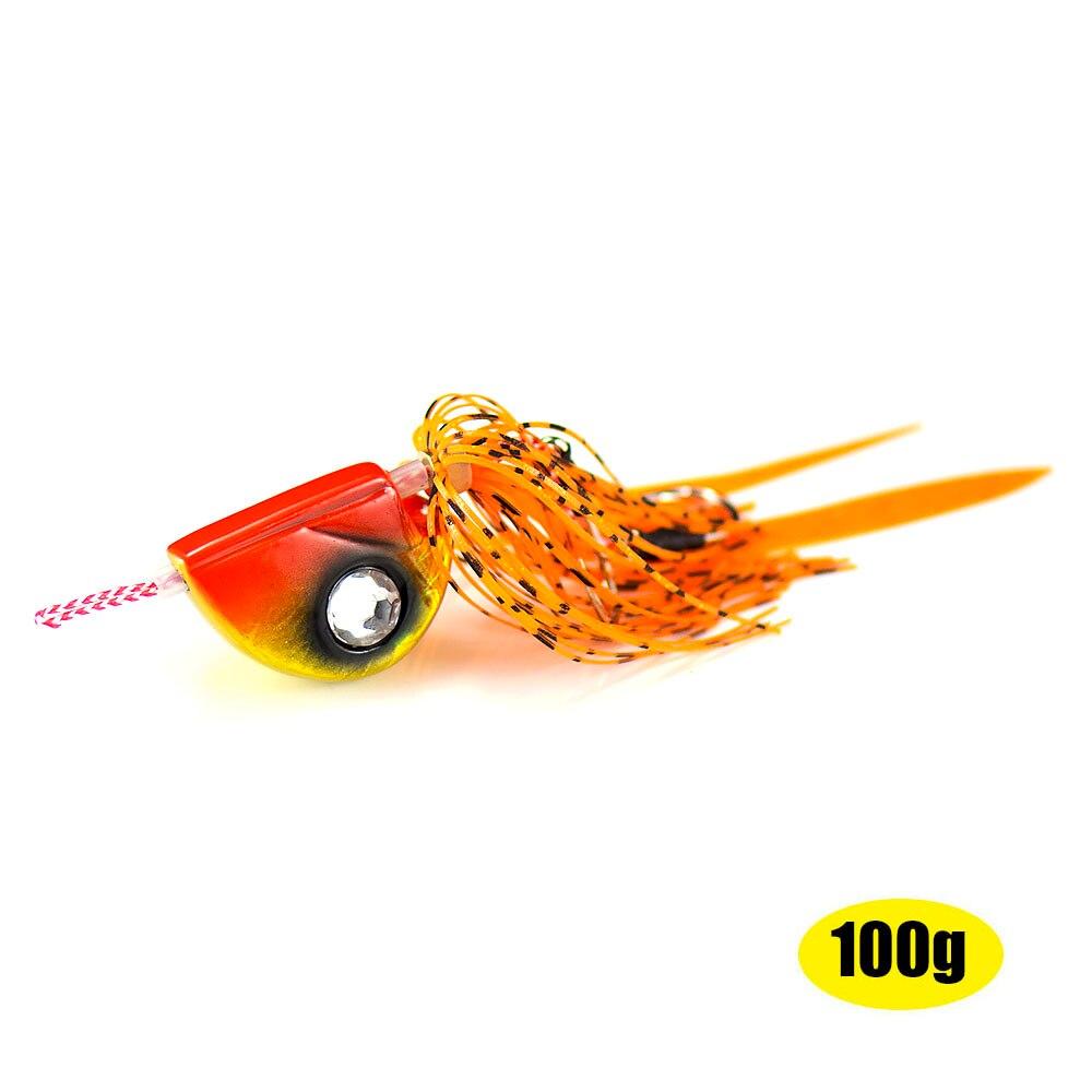 1pc 100g Countbass Fire Ball Slider Jig Tai Rubber Kabura Bottom Madai Rigged Assist Hook Squid Snapper Lead Sinker Fishing Lure