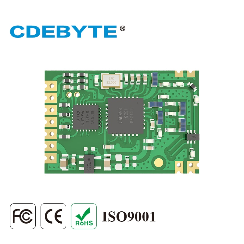 E32-433T20S1 Long Range SX1278 433mhz 100mW IPX Stamp Hole Antenna IoT uhf Wireless Transceiver Module SMD Transmitter Receiver