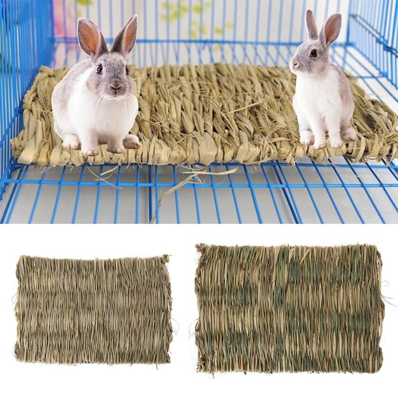 Новый Кролик трава жевательный коврик маленькое животное натуральная мягкая трава хомяк дом морская свинка кровать клетка коврик для дома аксессуары для хомяка