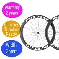 2 years warranty carbon bike wheels 50mm width 23mm road bicycle clincher tubeless wheelset basalt brake surface