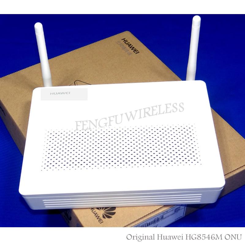 100 шт./лот оптовая продажа HG8546M Мини Размер GPON ONU ONT FTTH HGU режим маршрутизатора 1GE + 3FE + 1TEL + USB + wifi, английская версия + адаптер ЕС