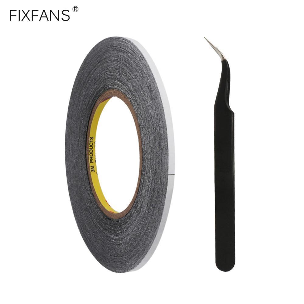FIXFANS 3mm x 50M doble cara Reparación de pantalla de teléfono cinta adhesiva pinzas antiestática para iPhone iPad LCD herramienta de reparación de pantalla táctil