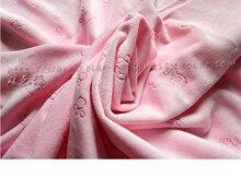 1 метр печать олень узор ткань супер мягкое животное розовый вельбоа для DIY шитье Мягкие игрушки материал основа вязание бархат