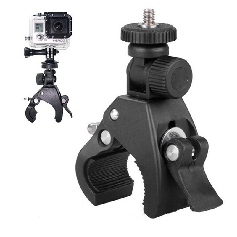 "Bicycle Bracket Bike Handlebar Mount Clip Holder 1/4""Screw Tripod Clamp Bracket Sport Camera Holder 180 Degree Rotate for DSLR"