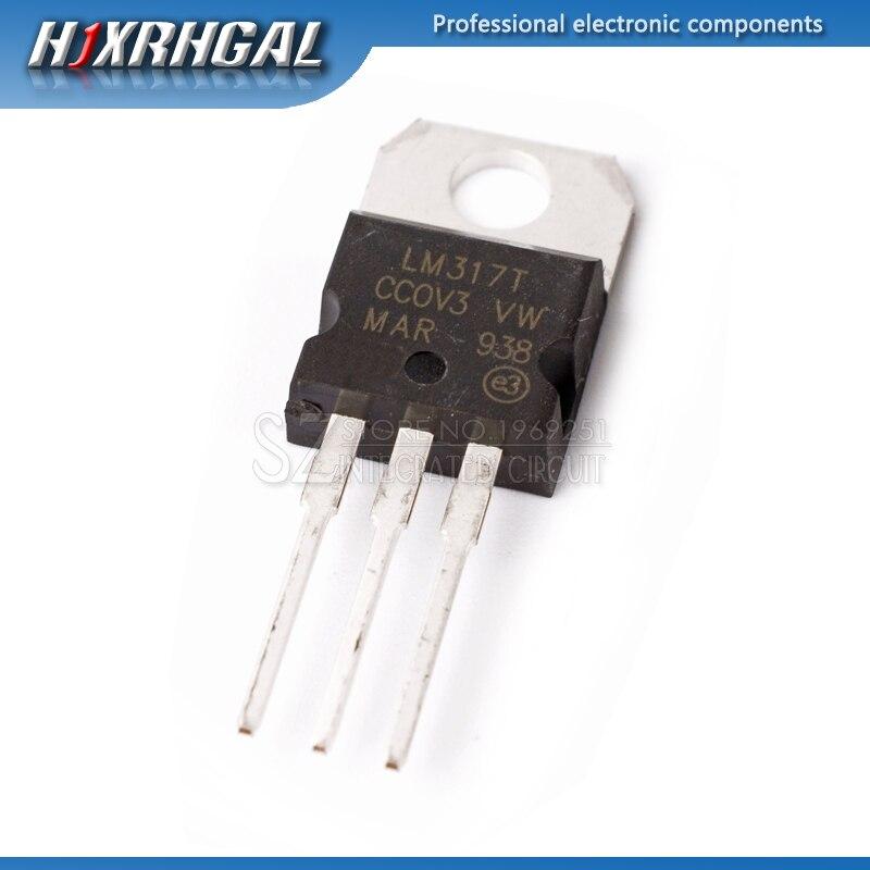 10 Uds LM317T LM317-220 TO220 regulado Transistor triodo