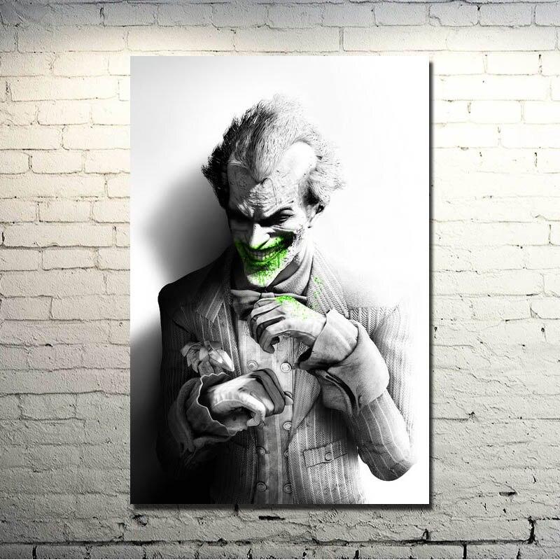 Póster de tela de seda de Arte de videojuegos de origen Arkham City de Joker-Batman con impresión de 13x20 32x48 pulgadas 011