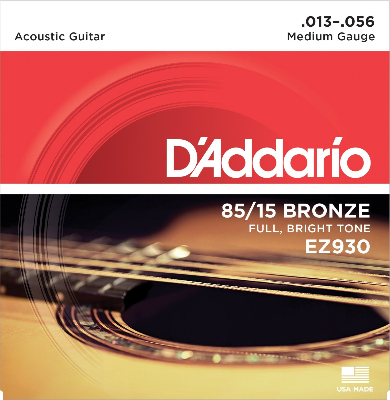 DAddario EZ910 EZ890 EZ900 EZ920 EZ930 Great American Bronze Acoustic Guitar Strings, Made in USA enlarge