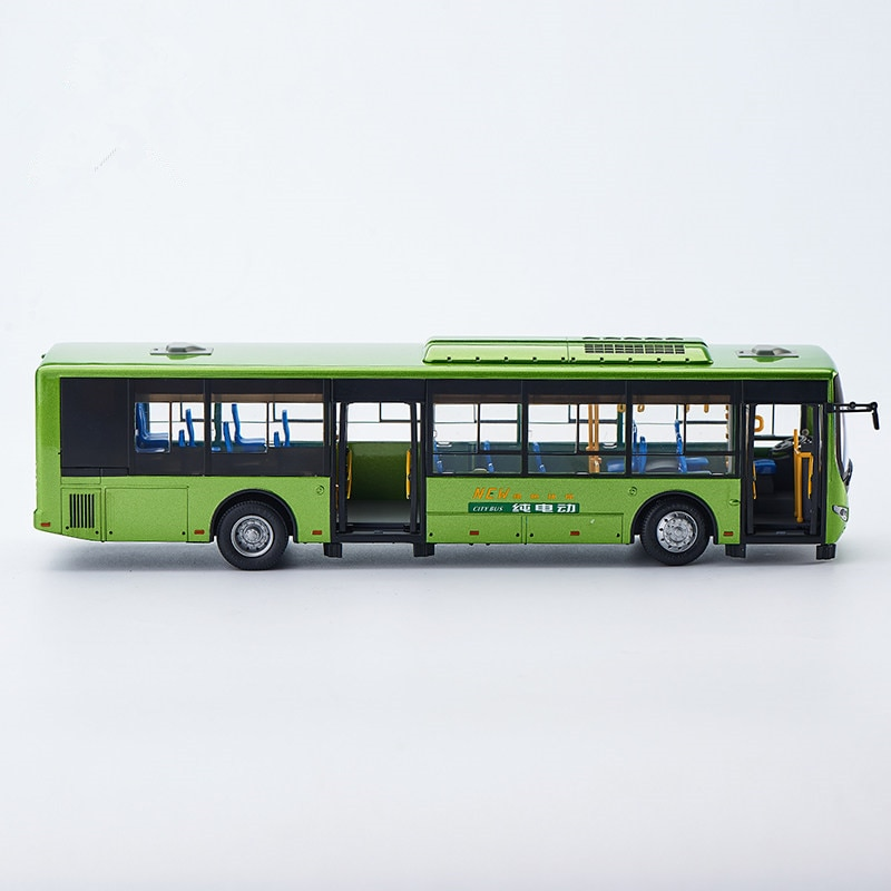 Collectible Alloy Model Gift 1:42 Original Yutong E12 Pure Electric Bus City Transit Bus Vehicle DieCast Toy Model Decoration alloy model 1 24 scale kinglong higer bev pure electric transit bus vehicle diecast toy model for collection decoration